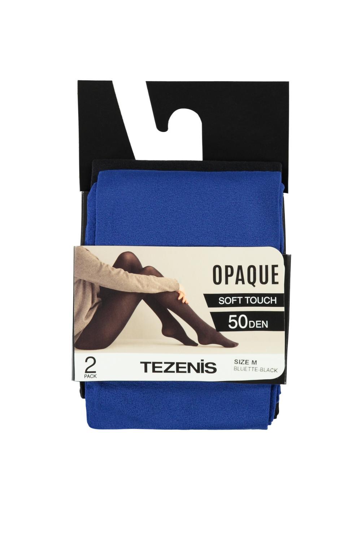 2 X 50 Den Opaque Microfiber Tights