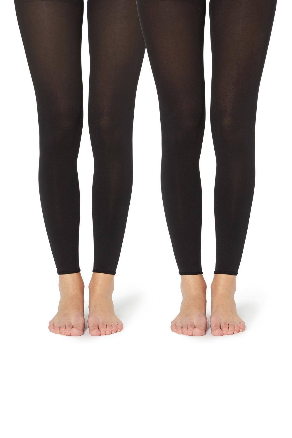2 X 100 DEN FOOTLESS TIGHTS