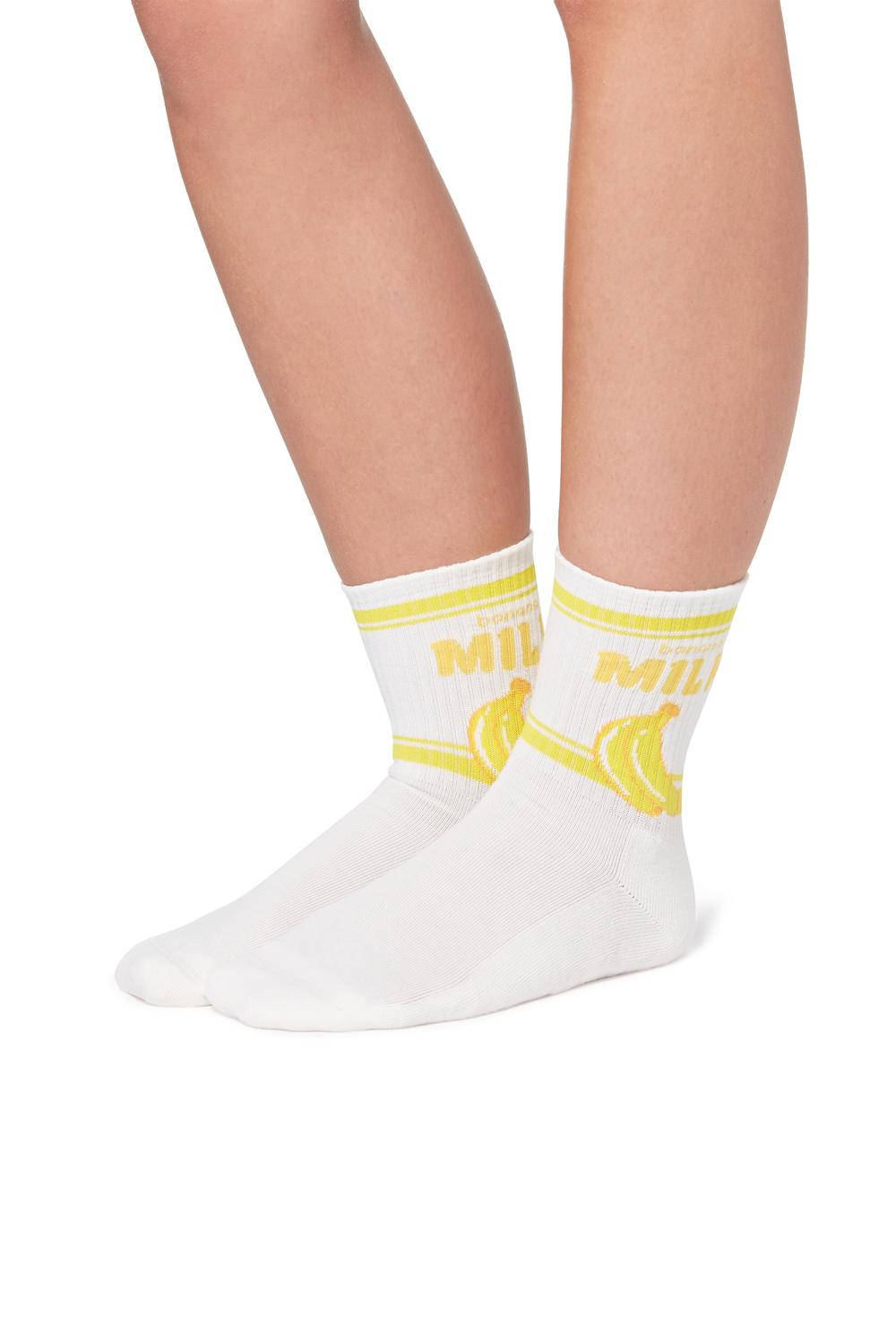 90s Fancy Sports Cotton Crew Socks