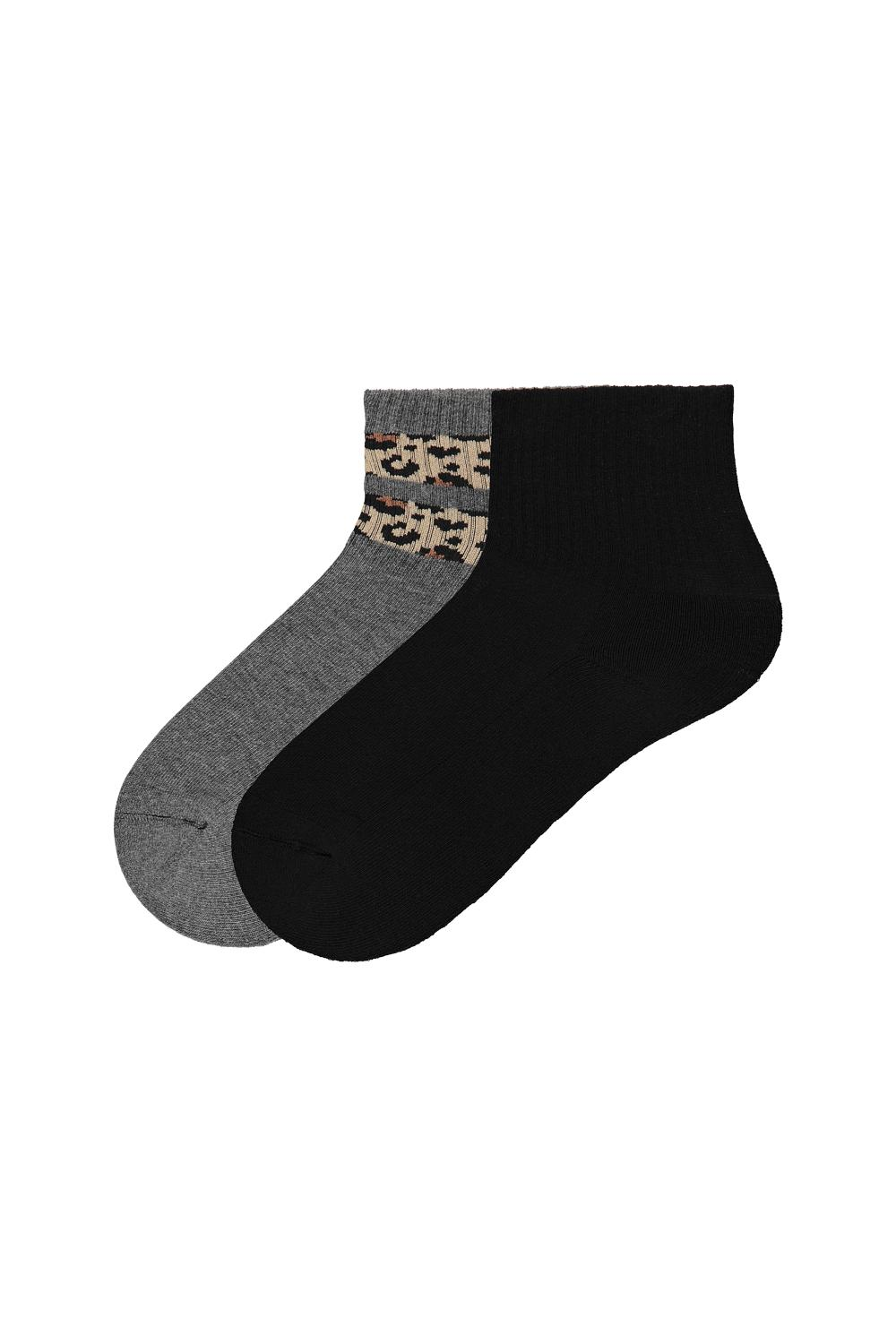 2 x Cotton Fantasy Print Sport Socks