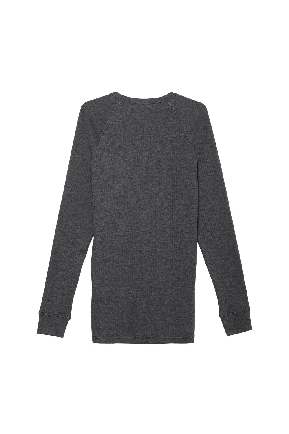 Long-Sleeved Ribbed Thick Cotton Top