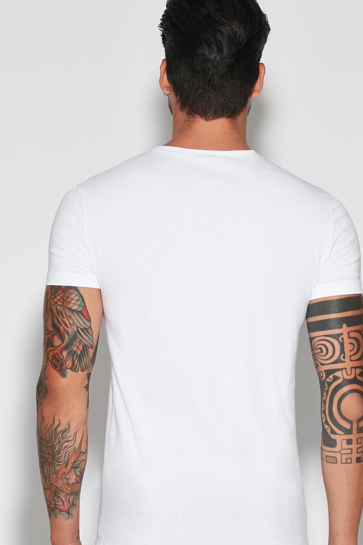 Pružné Bavlnené Tričko s Okrúhlym Výstrihom