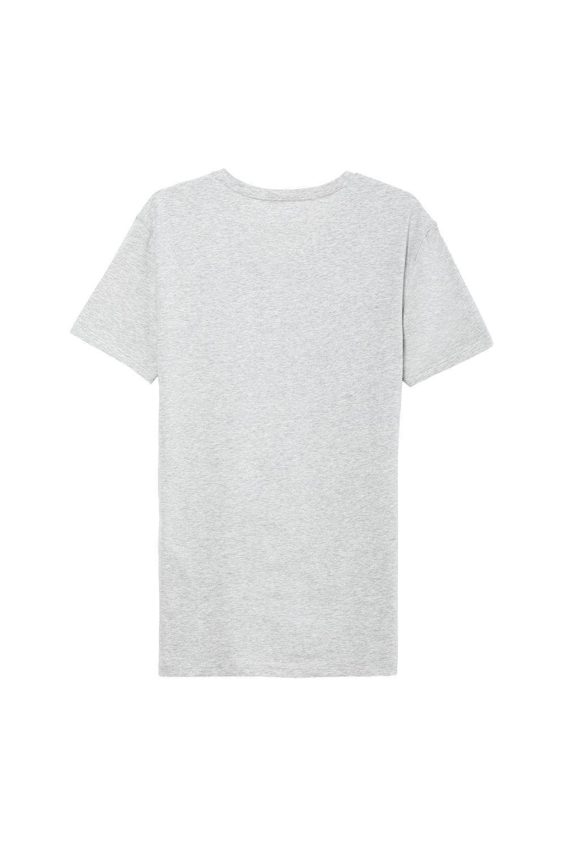 Camiseta Escote V de Algodón Elastizado