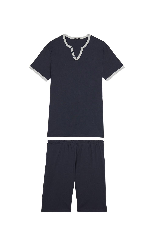 V Neck Short Pyjamas with Buttons