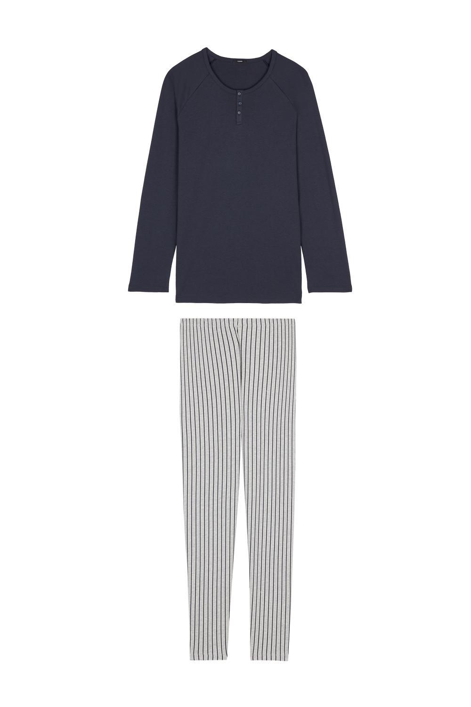 Long Grandad Pinstripe Pyjamas
