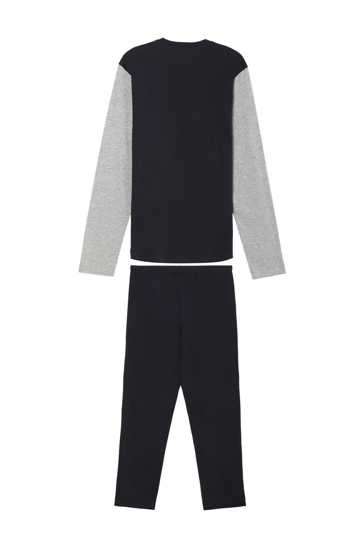 Pijama Largo Basic Bolsillo