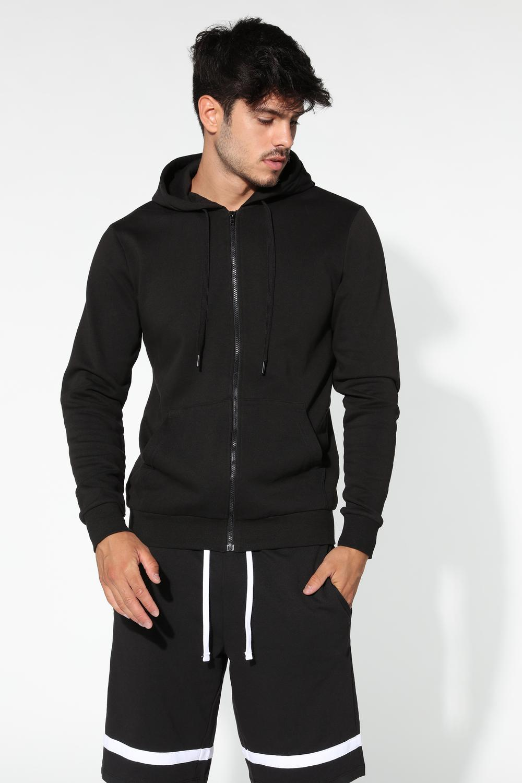 Basic Sweatshirt mit Kapuze