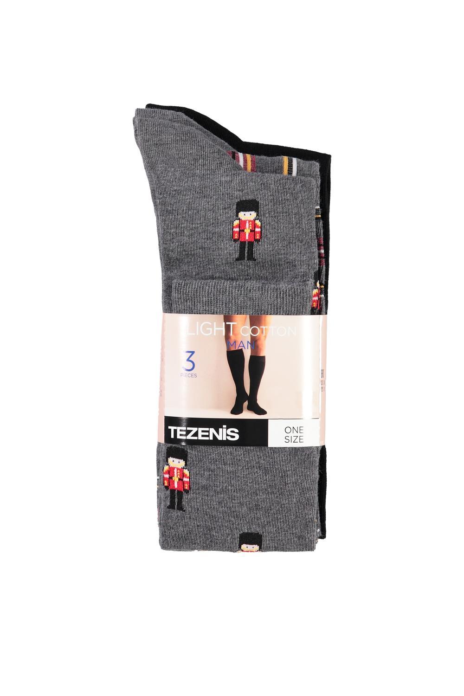 3 X Patterned Long Socks
