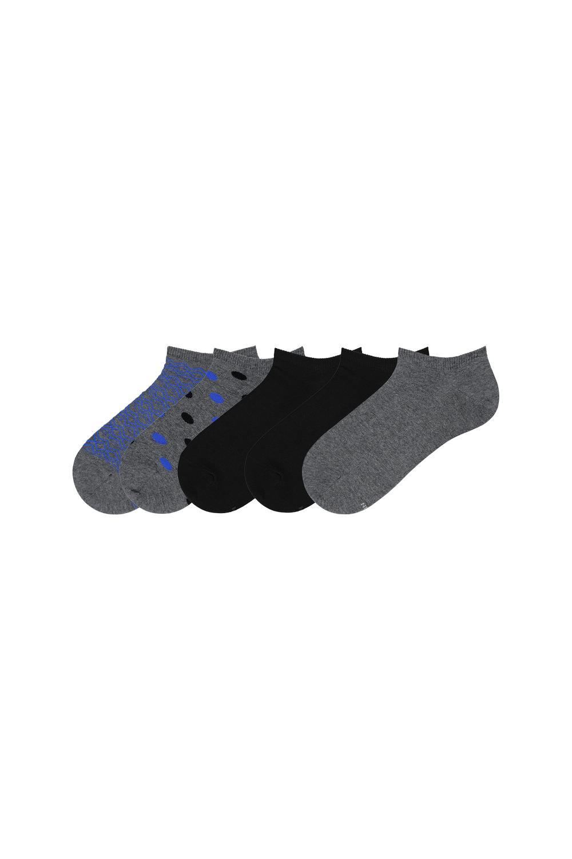 5 X Printed Cotton Low Cut Socks
