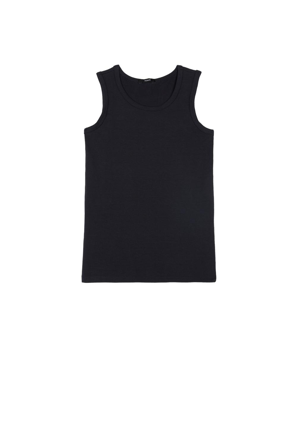 Wide-Strap Thermal Cotton Vest Top