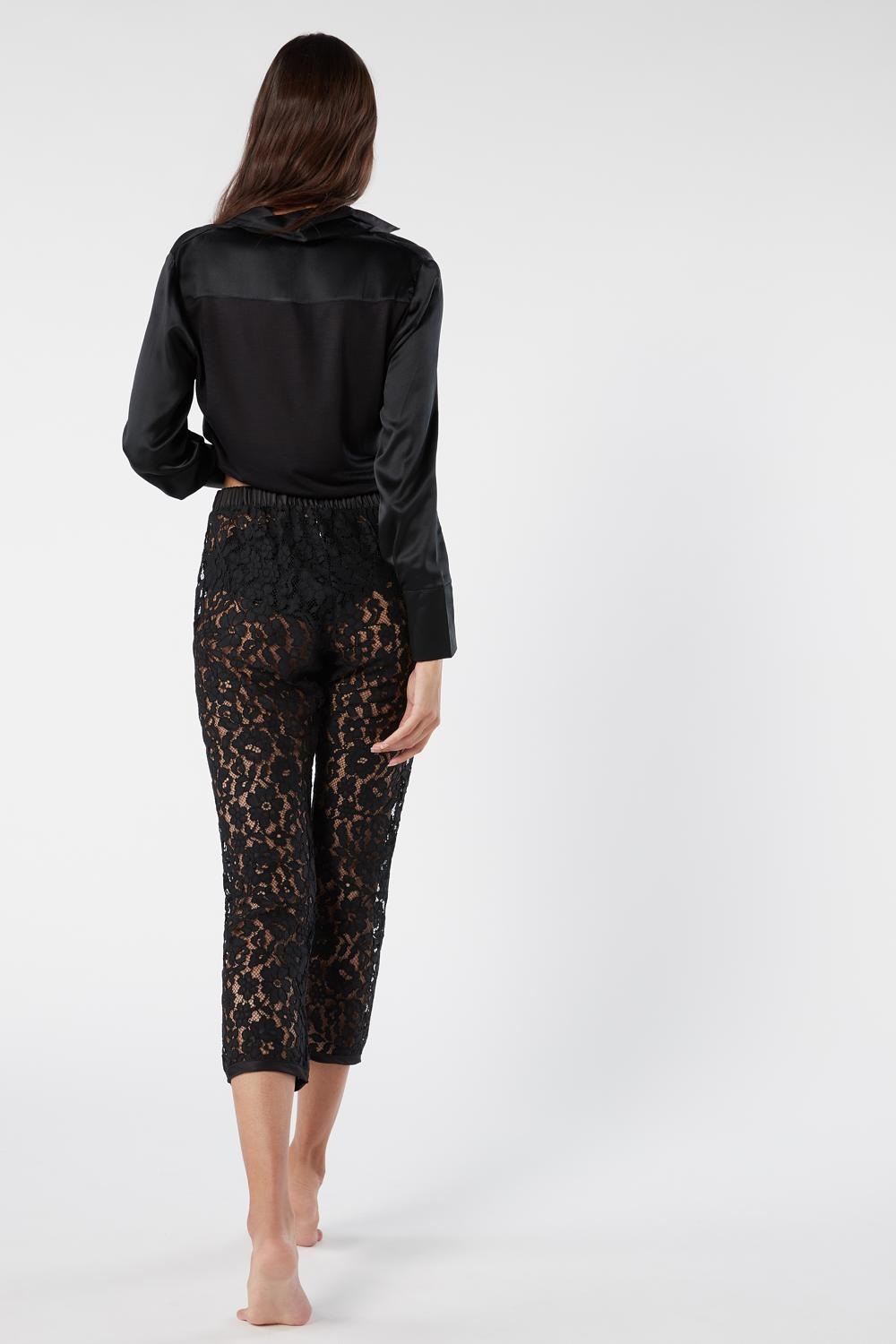 Lace Knee-High Pants