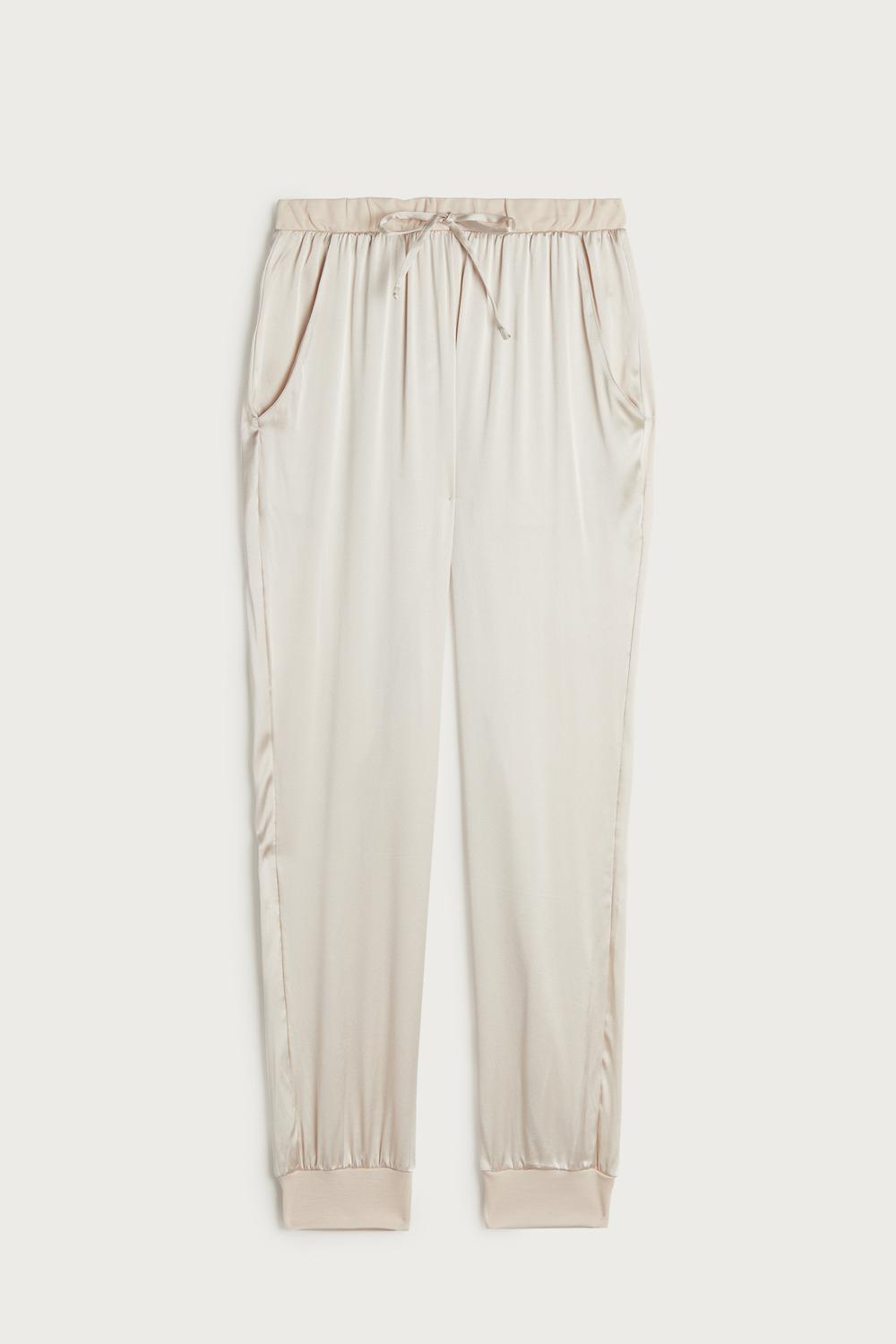 Long Silk and Lyocell Trousers