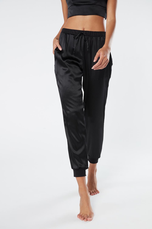 Pantalon Long en Soie et Lyocell