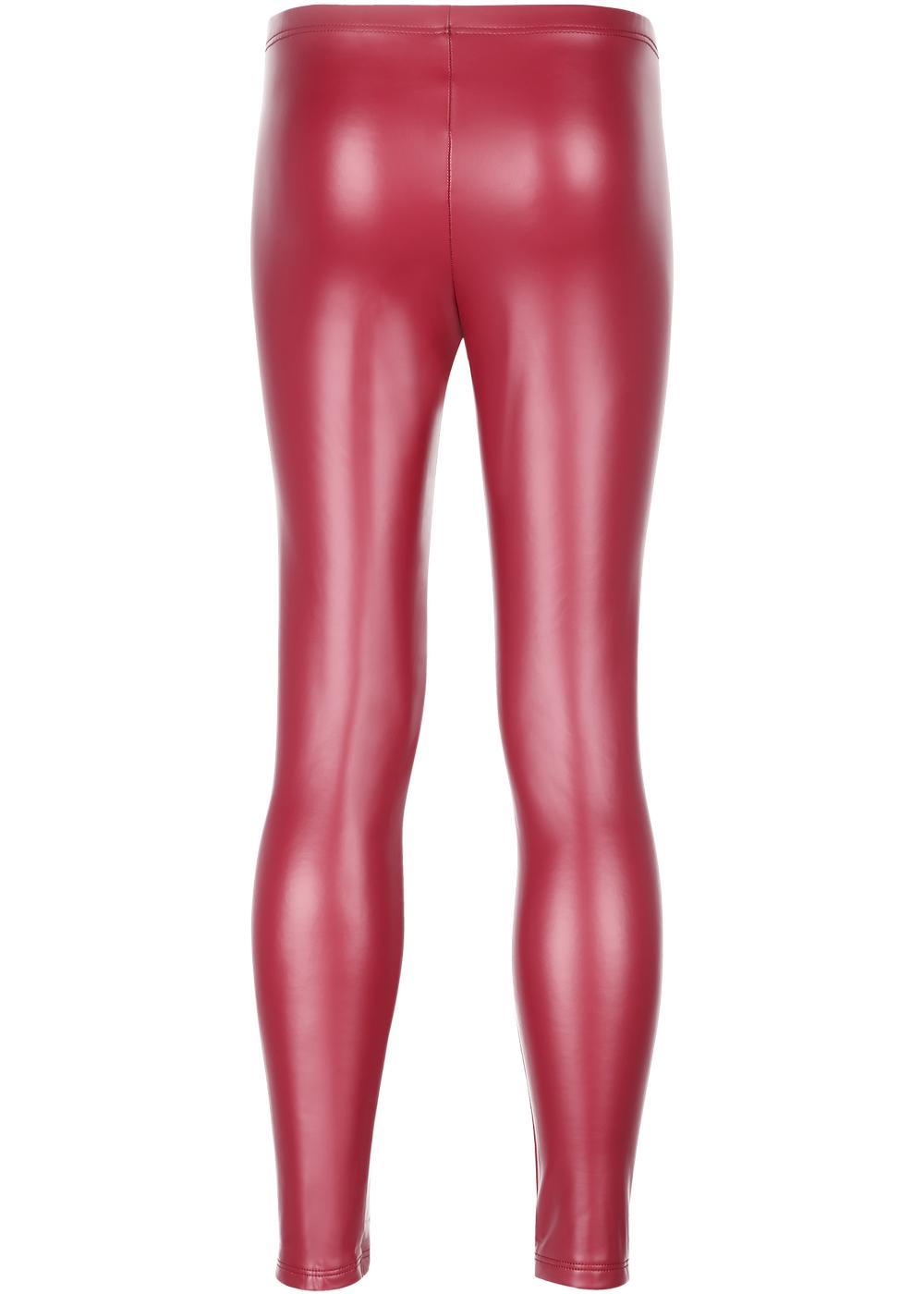 Leggings thermiques effet cuir pour fille