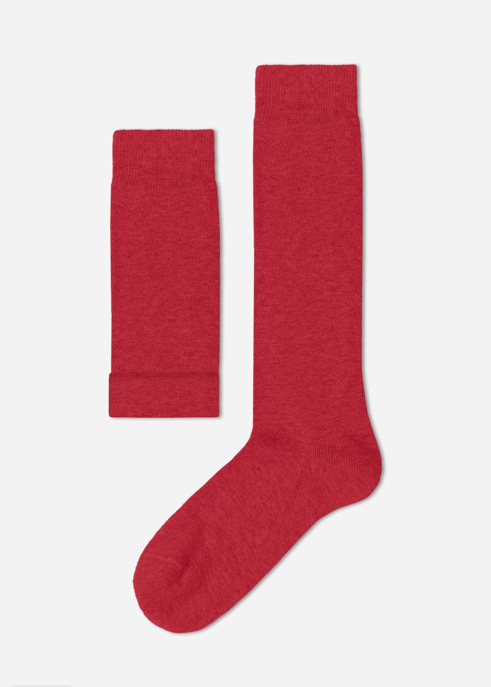 Detské vysoké bavlnené ponožky zpriedušného materiálu pre pocit sviežich nôh