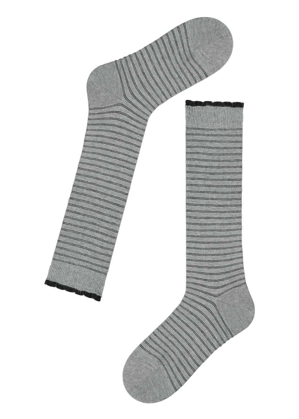 Children's Long Patterned Cotton Socks