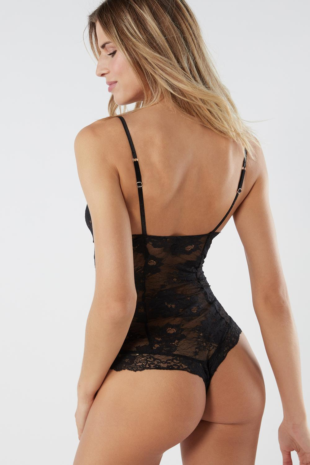 I Am Fabulous Jacquard Satin and Lace Body