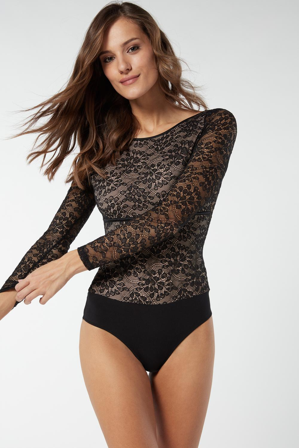 The Garden Fairy Long-Sleeved Lace Body
