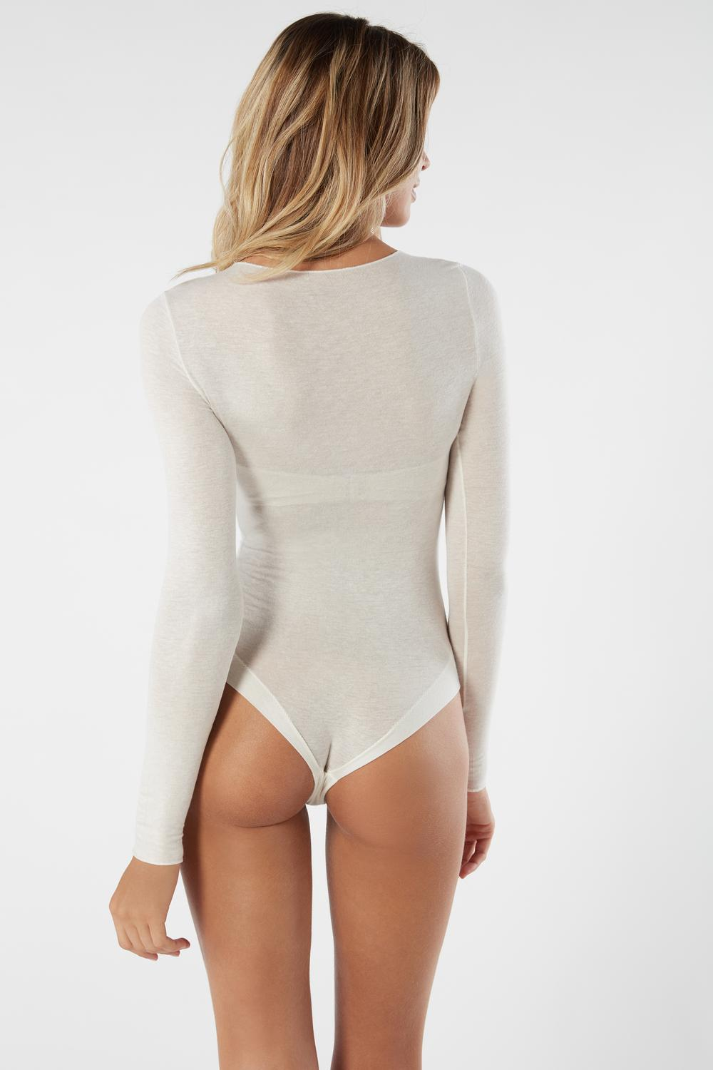 Body a Manica Lunga in Modal Cashmere Ultralight
