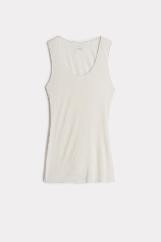 Modal Cashmere Ultralight Wide-Shoulder Top
