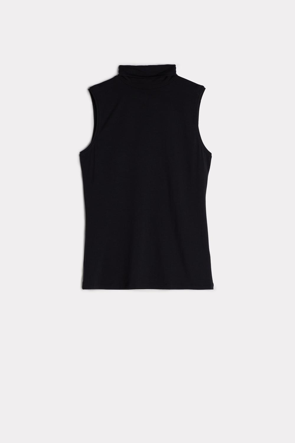 Modal High-Neck Vest Top
