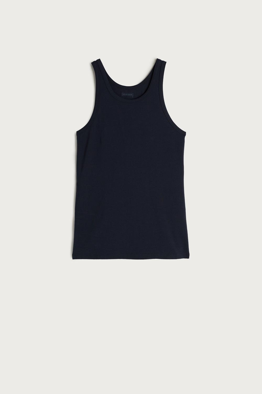 Stretch Cotton Tank Top