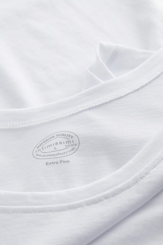 Supima Cotton Vest Top with Round Neck