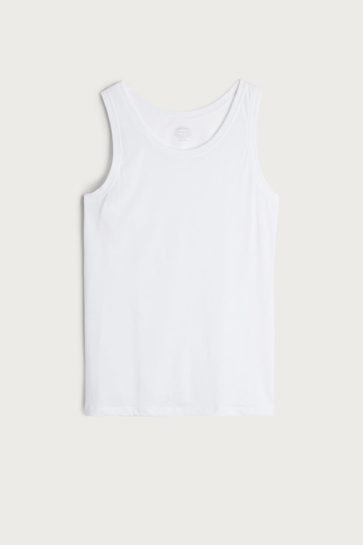 Trägerhemd aus Supima-Baumwolle Rundhalsausschnitt