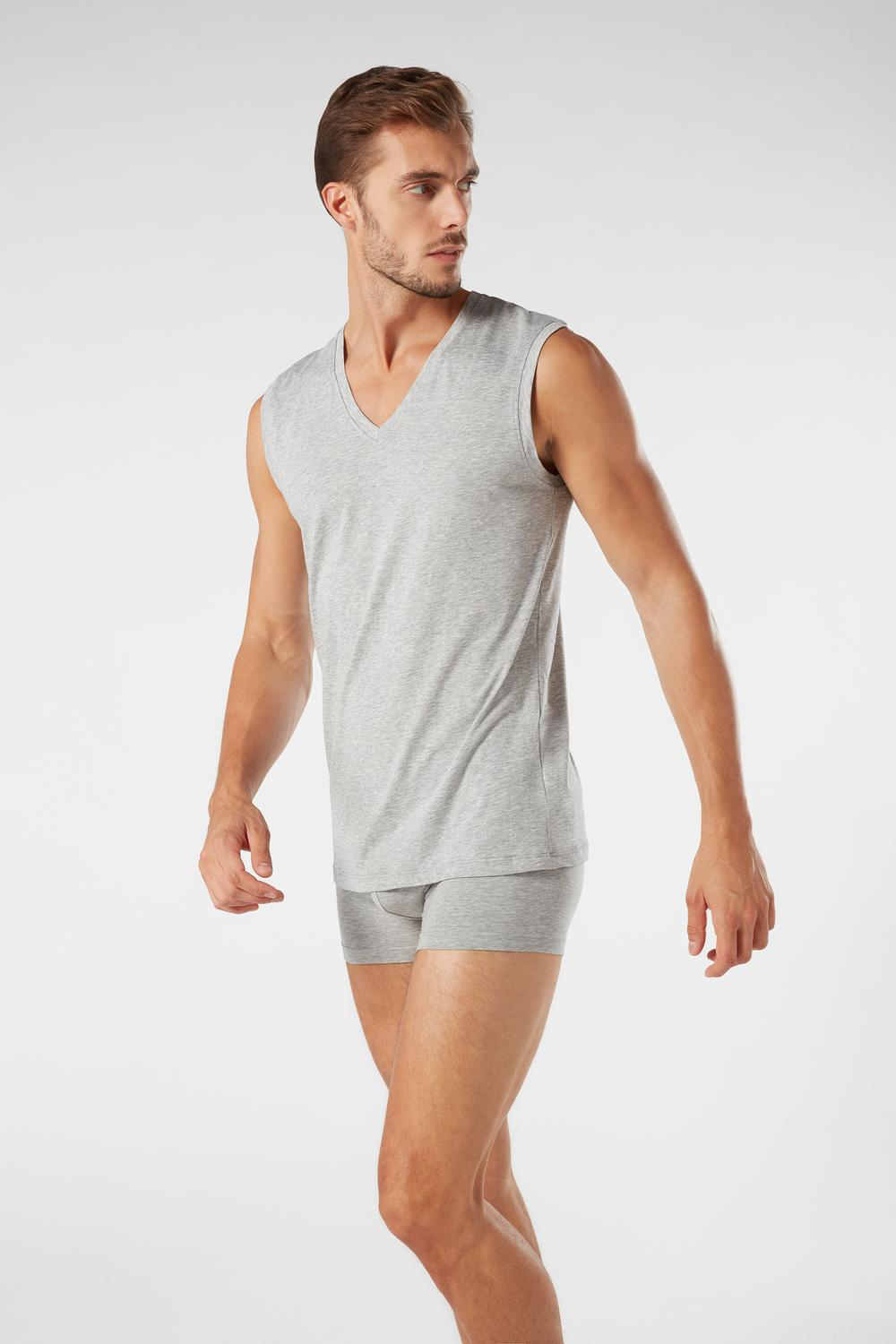 Wide-Strap Supima Cotton Vest Top