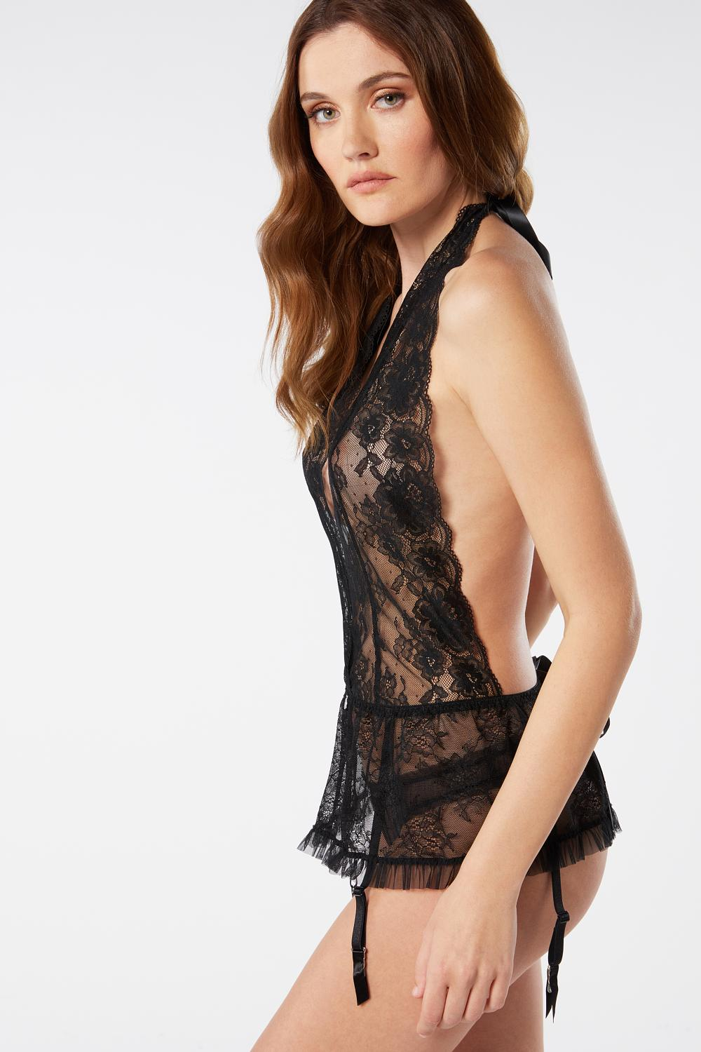 Lace Corset and Cheeky Set