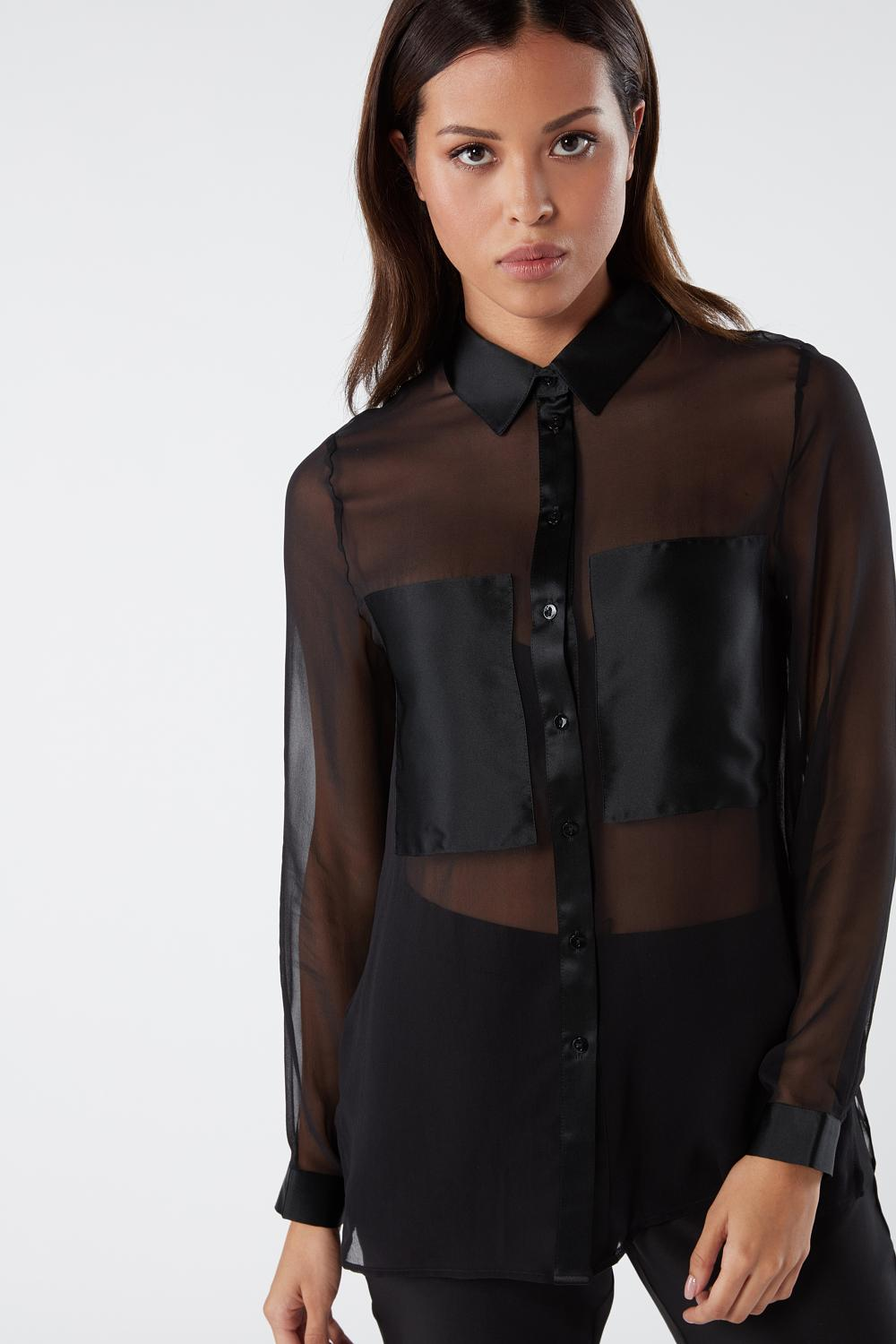 Silk Shirt With Pockets