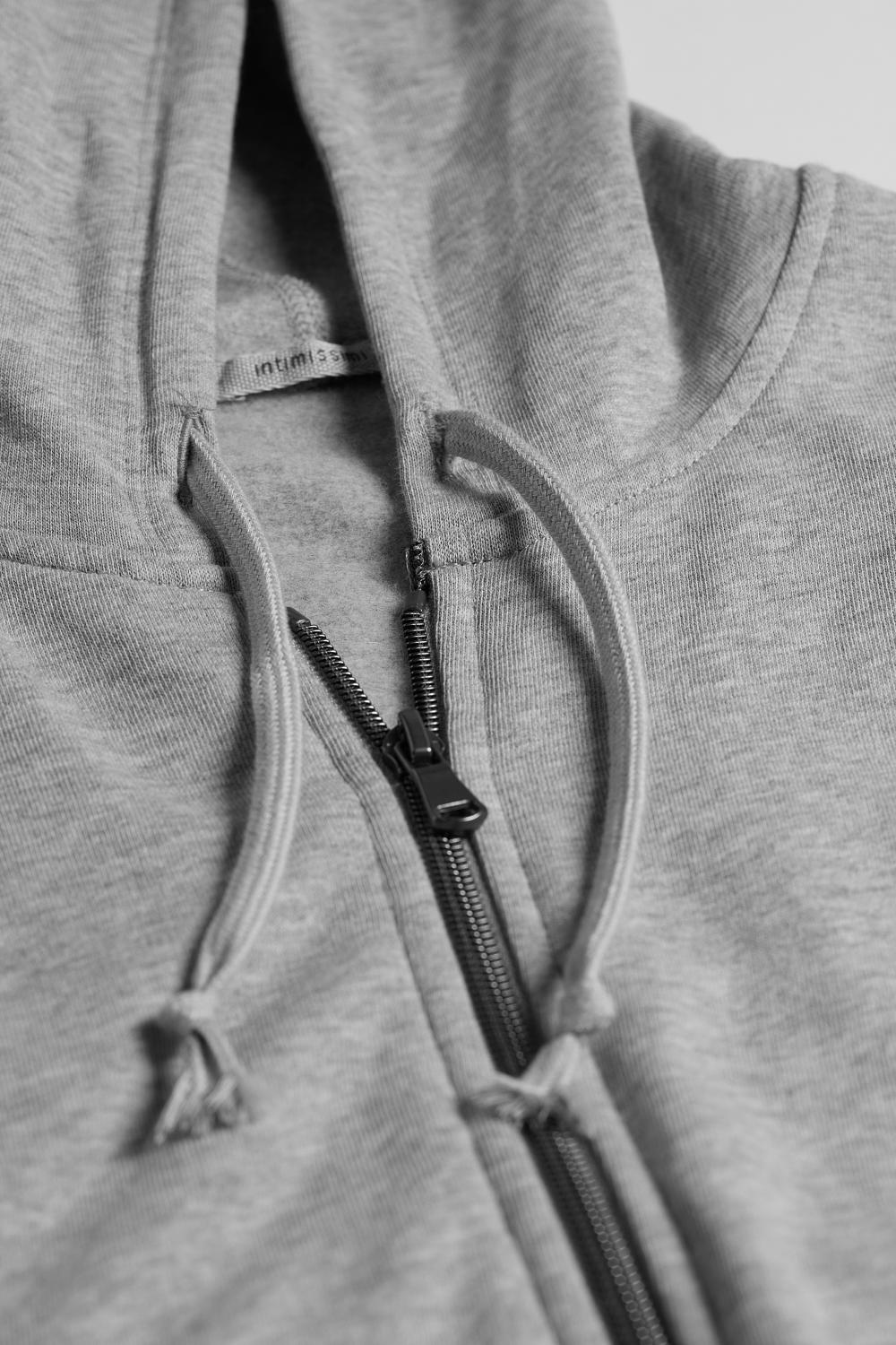 Pull-over Cotton Hoody with Zip