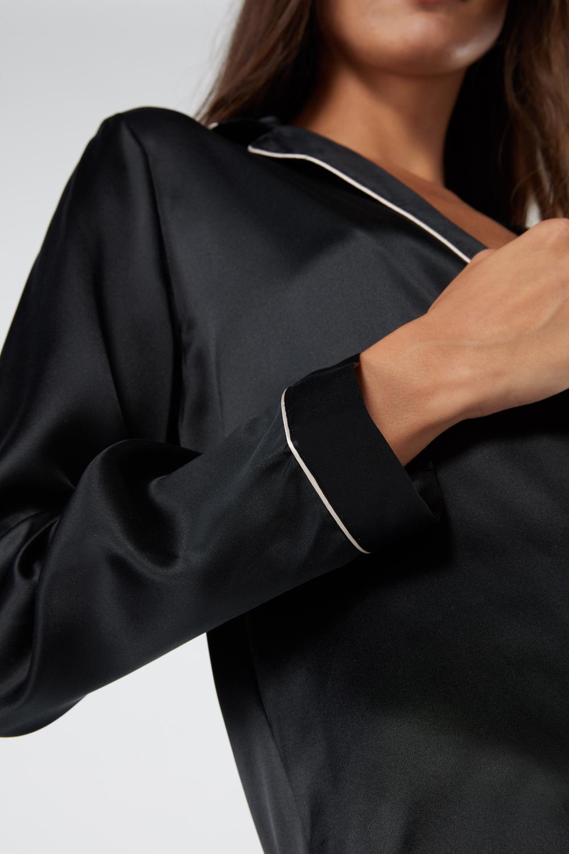 Mannish-Cut Jacket in Silk Satin