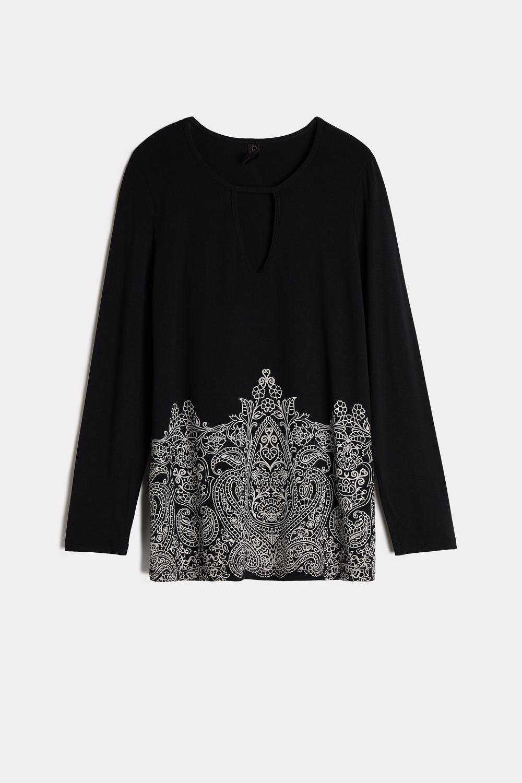Langarm-Shirt aus Mikromodal Pretty Flowers