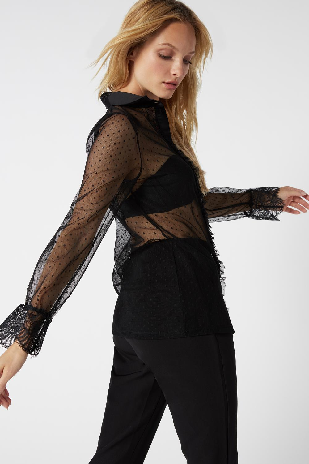 Camicia in Tulle Timeless Elegance