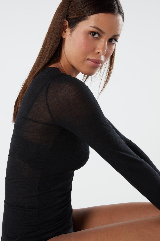 Modal Cashmere Ultralight Long Lace Shirt