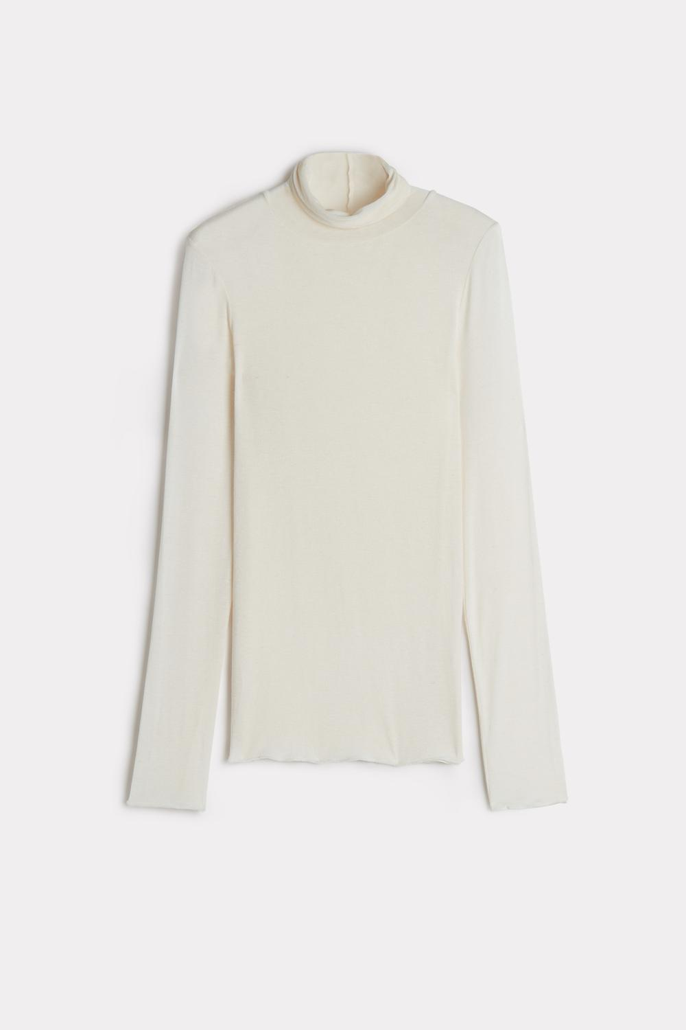 Modal Cashmere Ultralight High-Neck Top