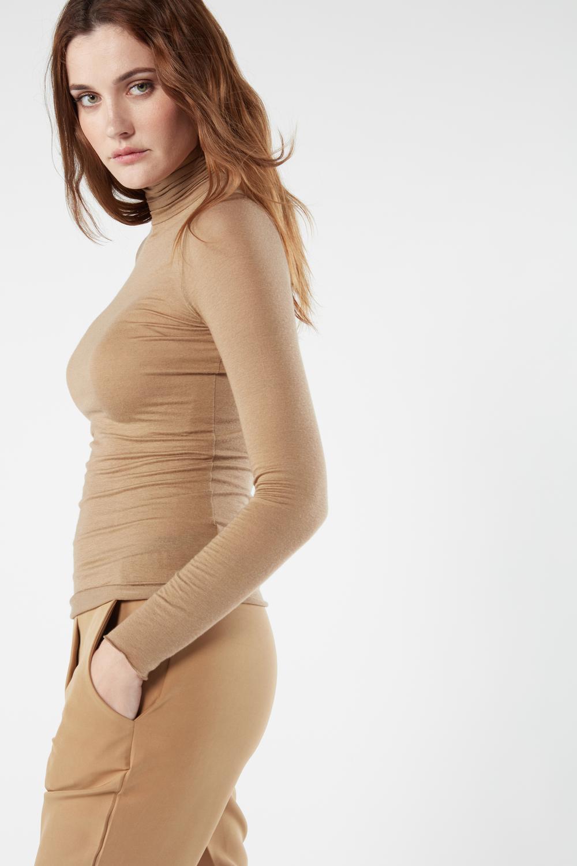 Modal Cashmere Ultralight High-Neck Top