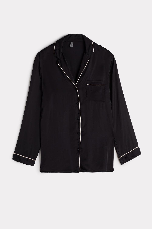 Mannish-Cut Jacket in Satin