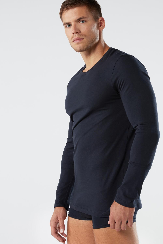 T-Shirt à Manches Longues en Coton Supima®