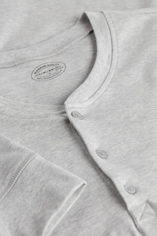 Long-Sleeve Top in Supima Interlock