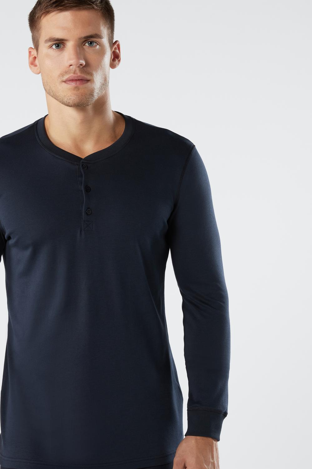 Long-Sleeve Top in Supima Interlock