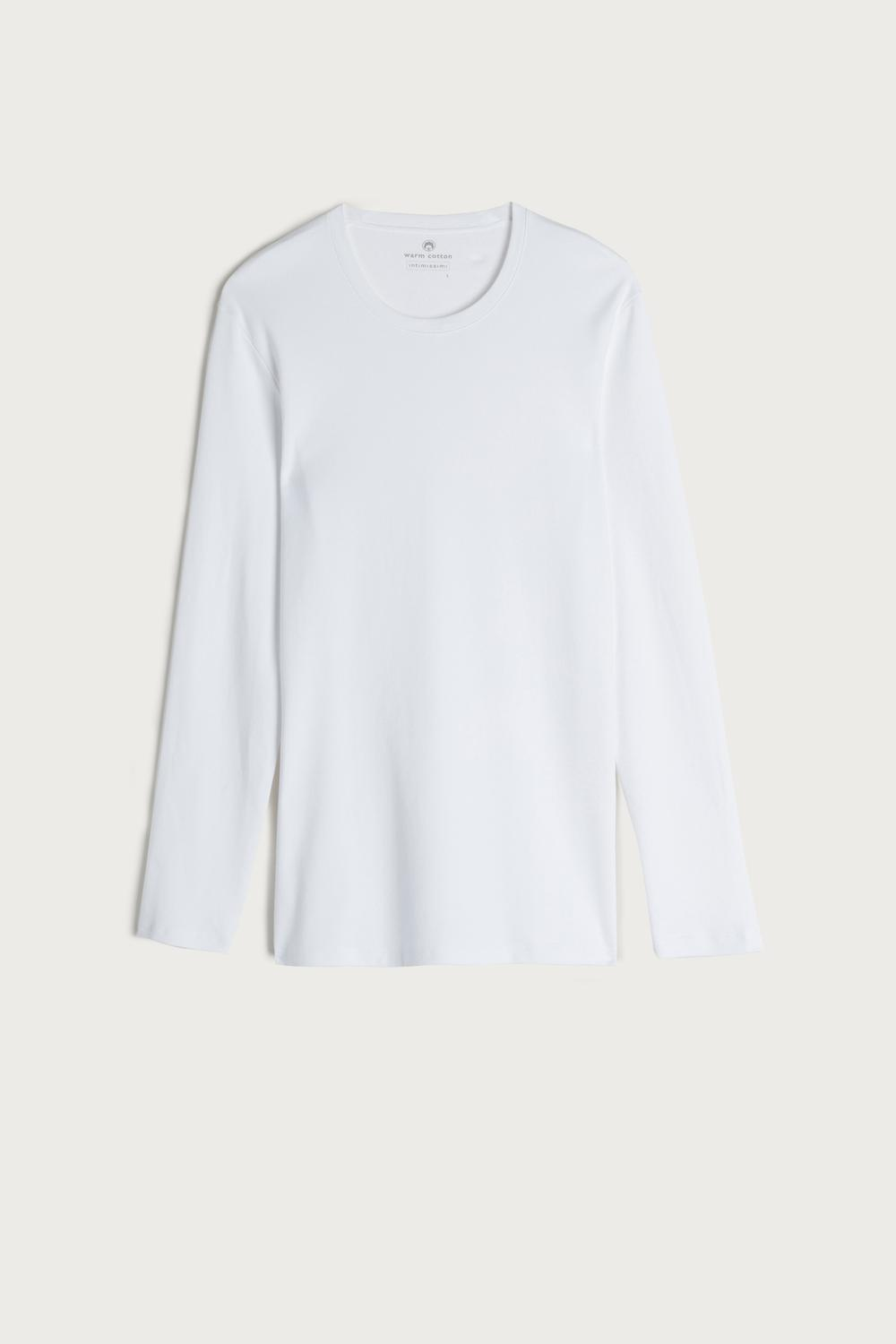Long-Sleeve Warm-Handle Cotton Top
