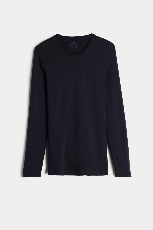 Long-Sleeve Warm-Handle Cotton Top