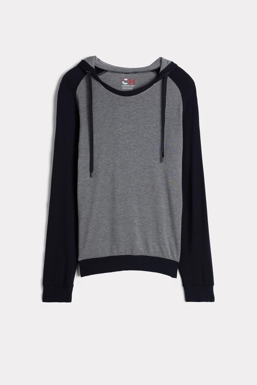 Modal-Cashmere Hooded Sweatshirt