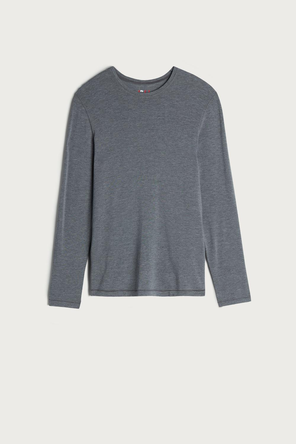 Long-Sleeve Modal-Cashmere Top