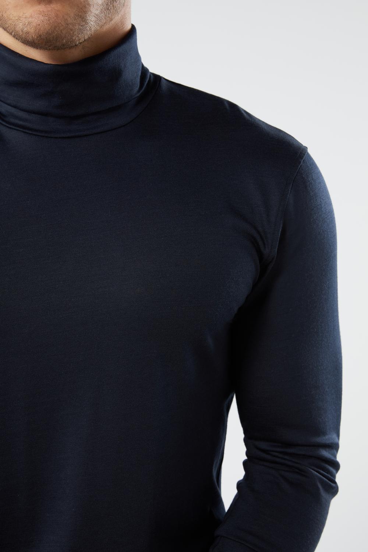 Langarm-Shirt aus Merinowolle Rollkragen