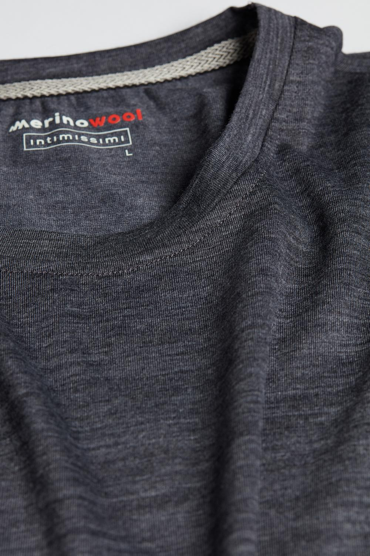 Long-sleeve Crew-Neck Merino-Wool Top