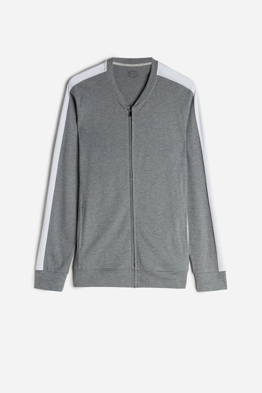 Interlock Sweatshirt with Central Zip