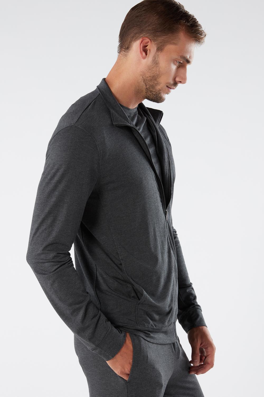 Silk and Modal Zip-Up Sweatshirt